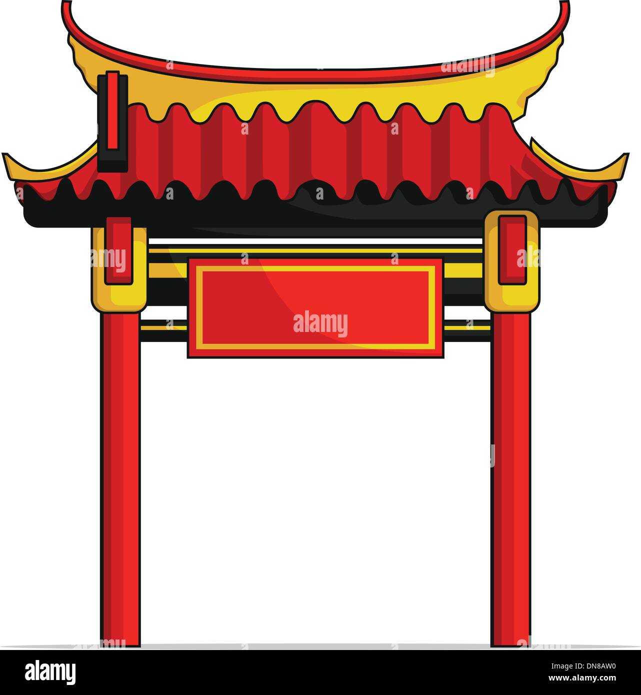 Chinese Gate - Stock Vector