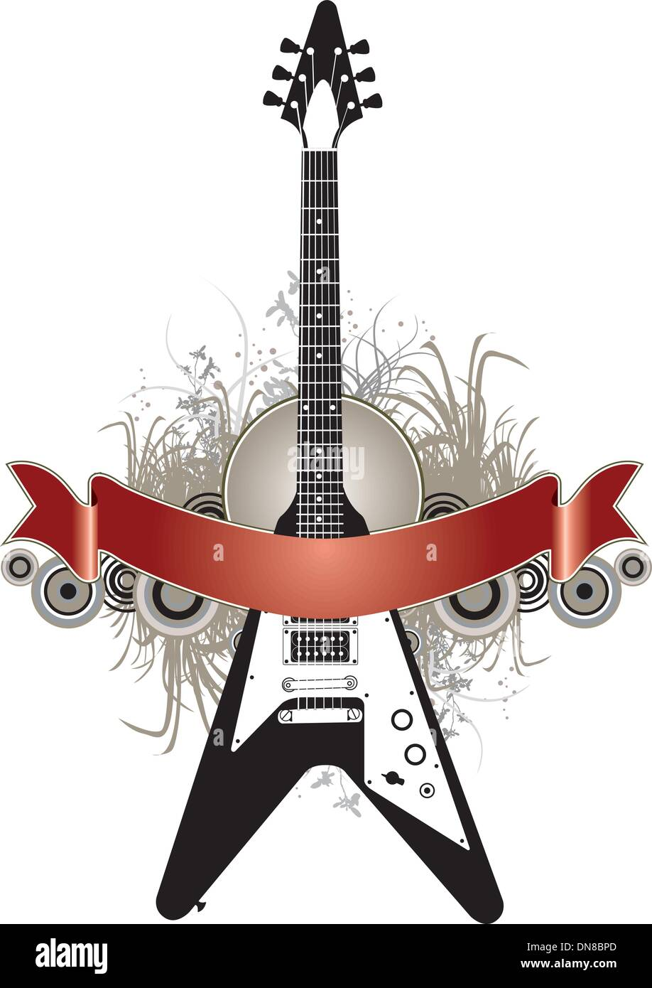 Guitar Vector Banner Design Template Stock Vector Image Art Alamy