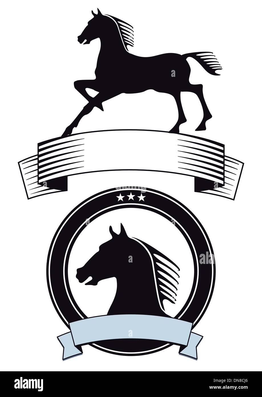 horse symbol - Stock Vector