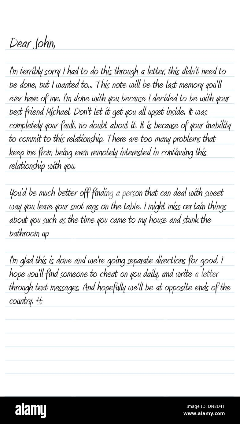 Dear In A Letter from c8.alamy.com