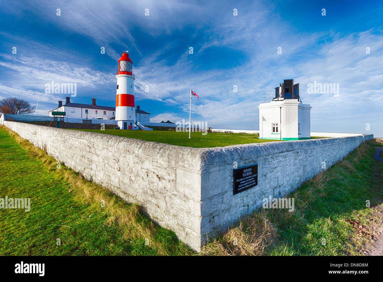 SOUTER LIGHTHOUSE - Stock Image