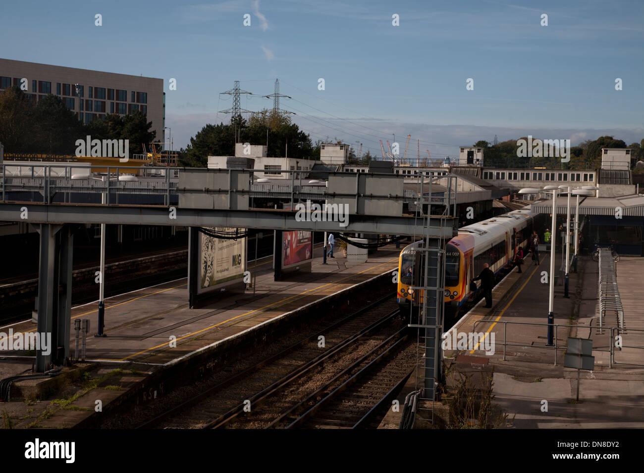 southampton central station southampton hampshire england - Stock Image
