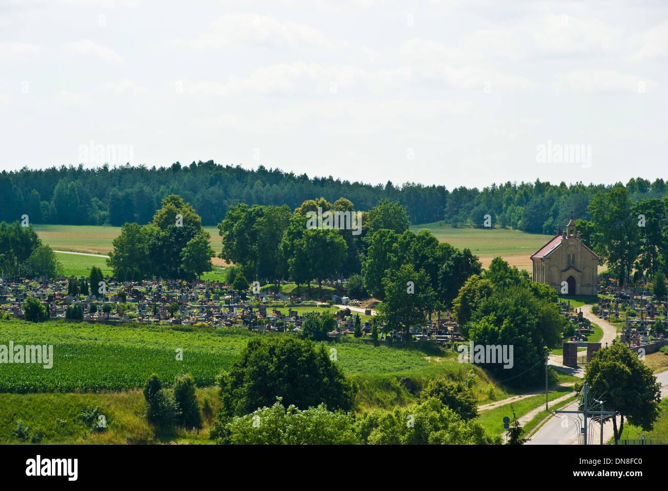 The cemetery in Goniadz, Podlaskie Voivodship, Poland. - Stock Image