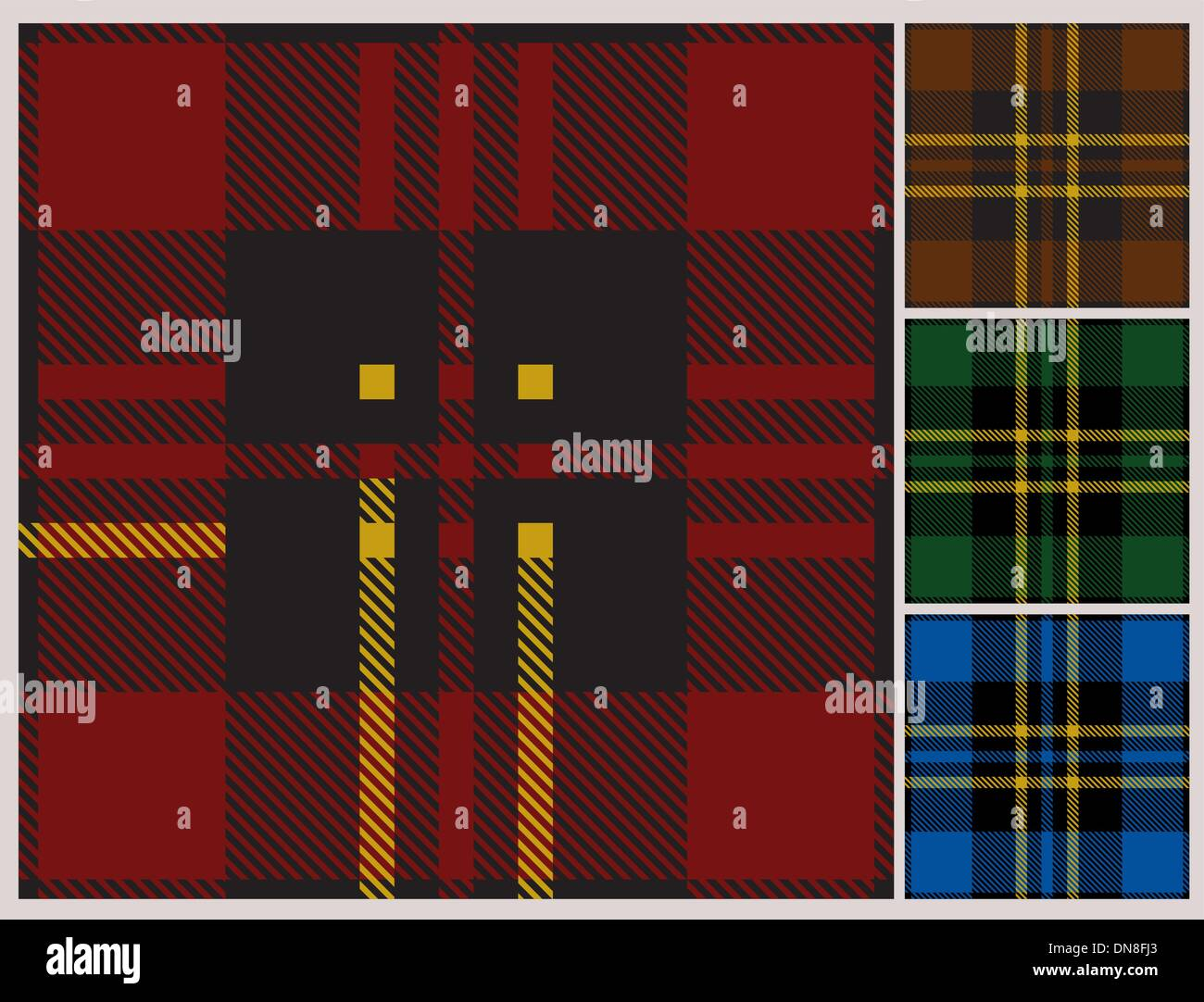 Tartan pattern - Stock Image