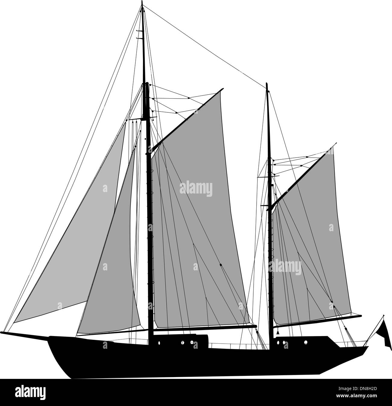 Two masted ketch - Stock Image