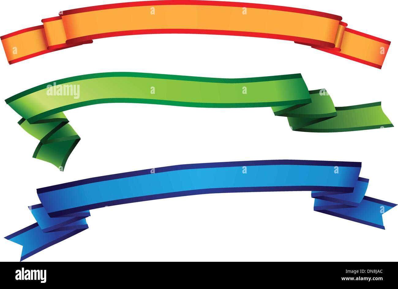 Decorating ribbon - Stock Vector