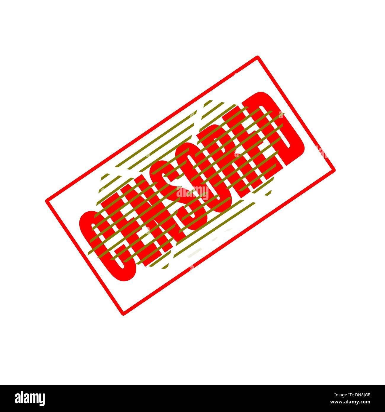 Censored - Stock Image