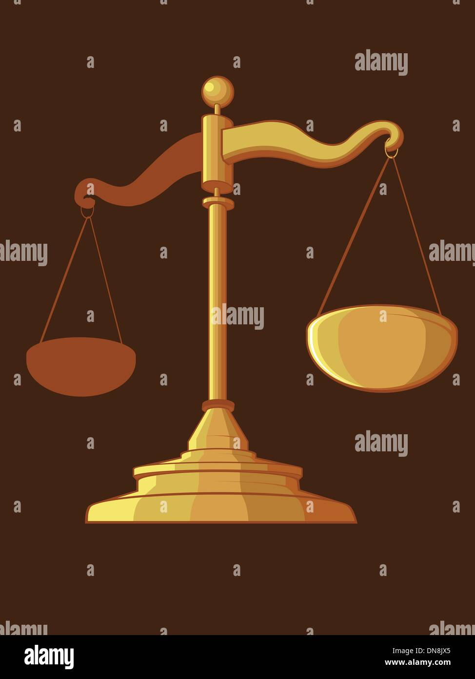 Justice Scale - Stock Vector
