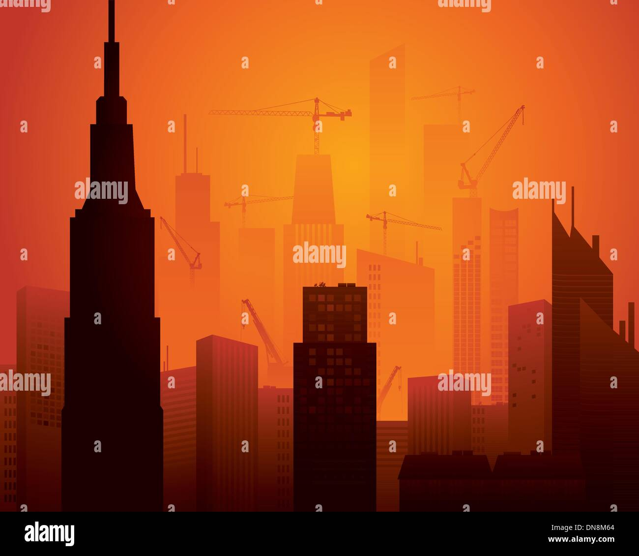 High rise construction - Stock Vector