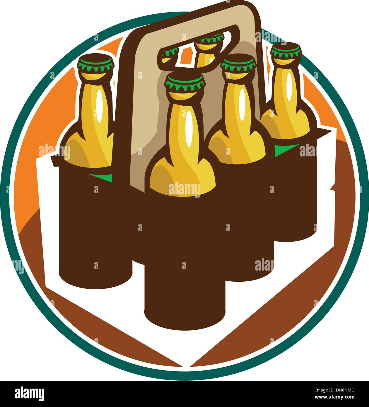Beer Bottle Pack Retro High Resolution Stock Photography And Images Alamy
