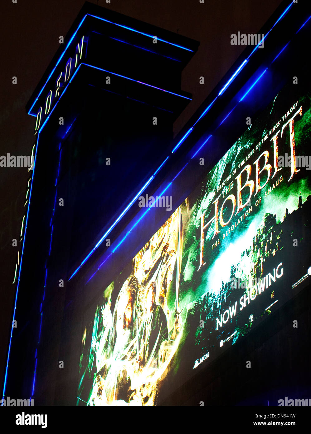 'The Hobbit - The Desolation of Smaug' at Odeon Leicester Square, London - Stock Image