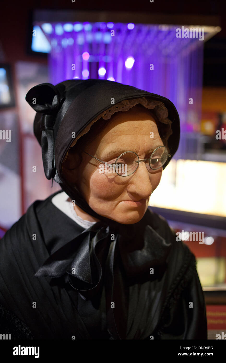 Madame Tussaud (Marie Grosholtz) wax figure in the Madame Tussauds Amsterdam in the Netherlands. - Stock Image