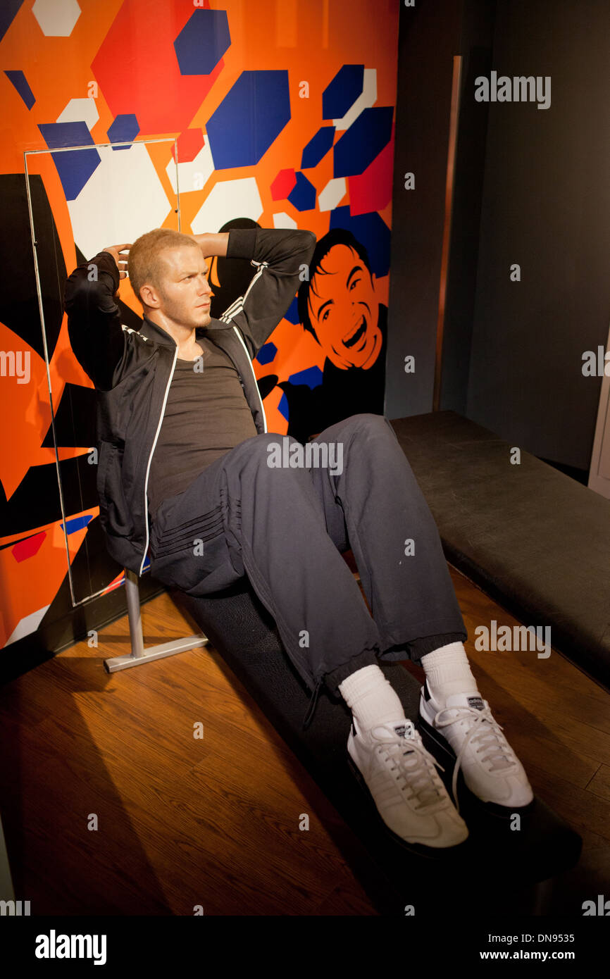 David Beckham wax figure in the Madame Tussauds Amsterdam, Holland, the Netherlands. - Stock Image