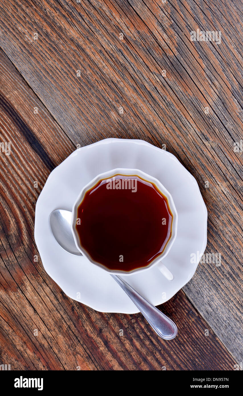 A cup of tea on wooden background Stock Photo