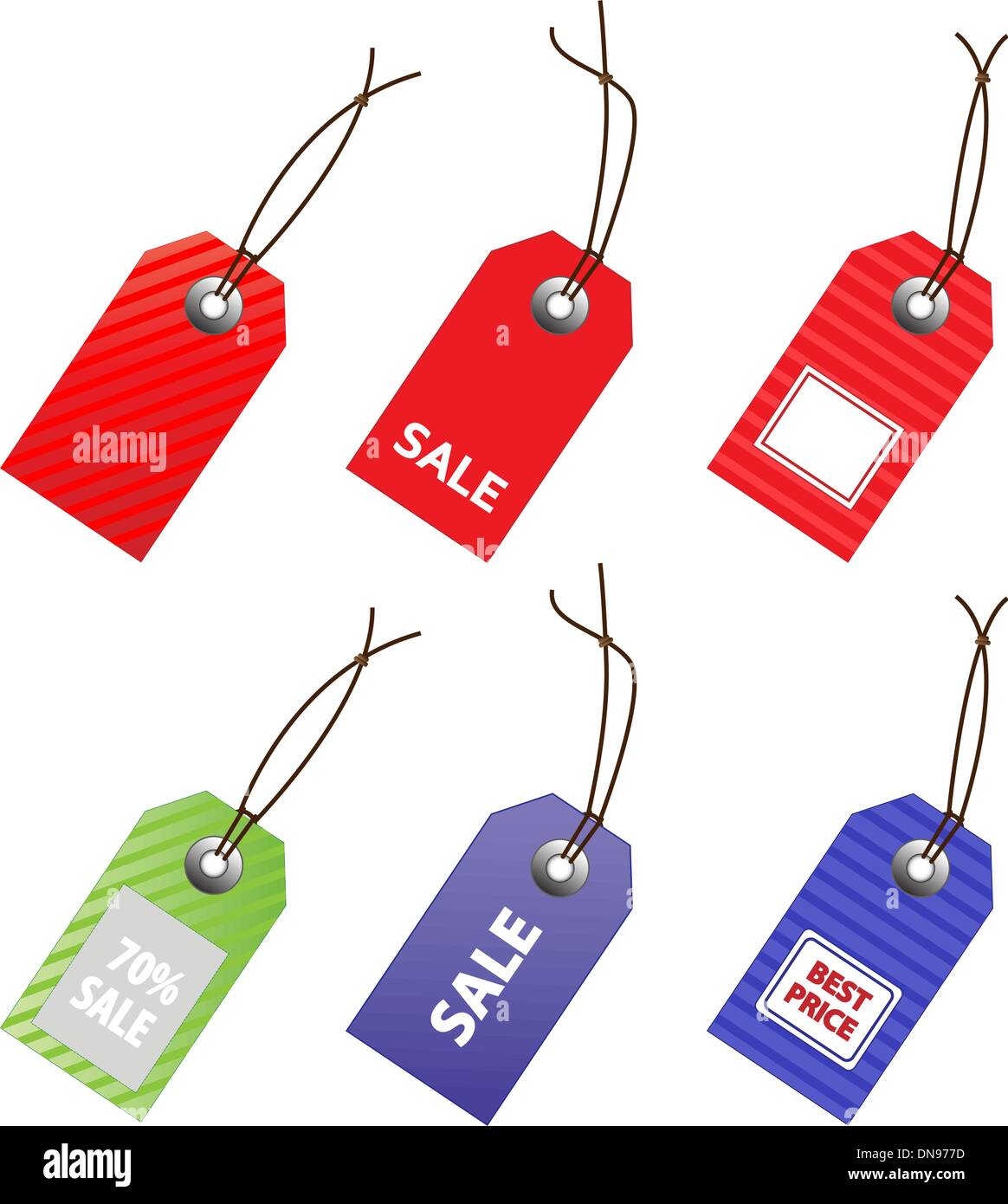 Collection of vector price tags for marketing design. - Stock Image