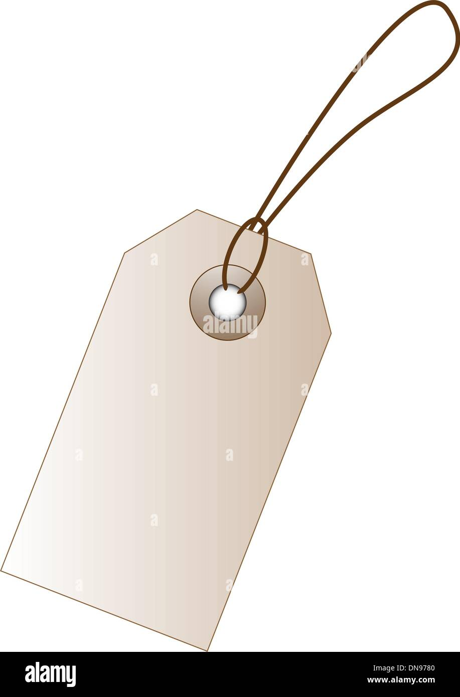 Vector price tag with empty space for marketing design. - Stock Image