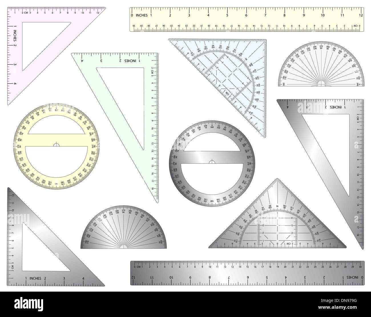 Rulers - Stock Vector