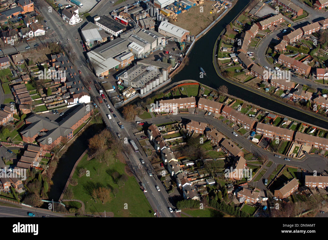Tipton Junction where the Birmingham Canal and Dudley Canals meet at Tipton Green in West Midlands England Uk. - Stock Image