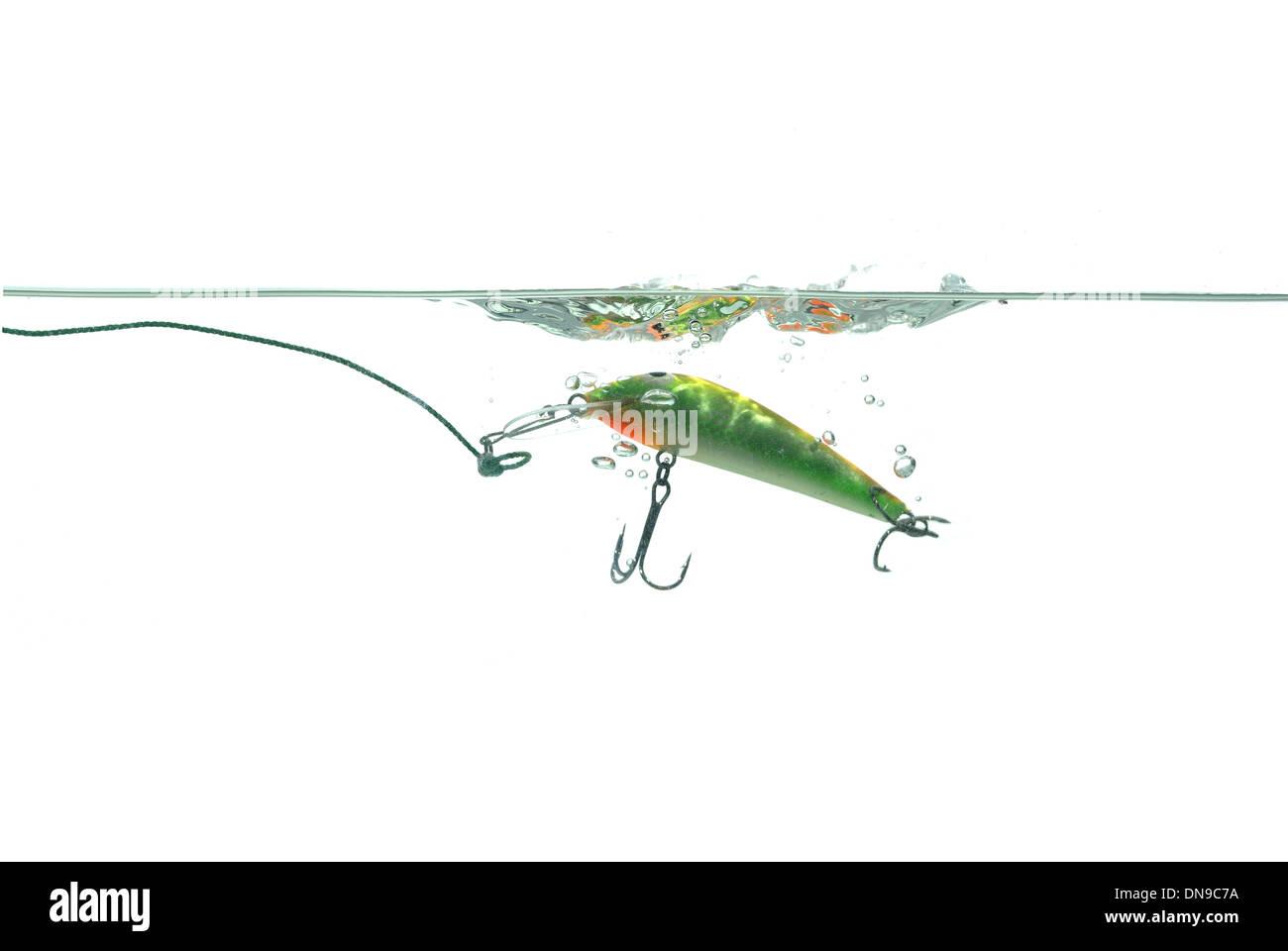 wobbler for fishing on white background Stock Photo