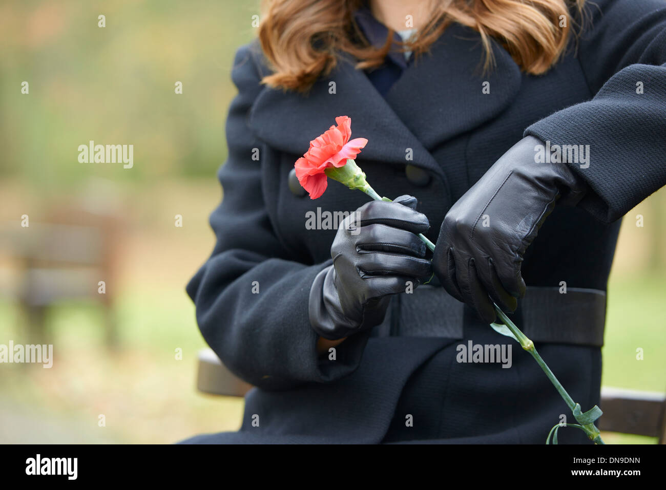 Funeral service - Stock Image