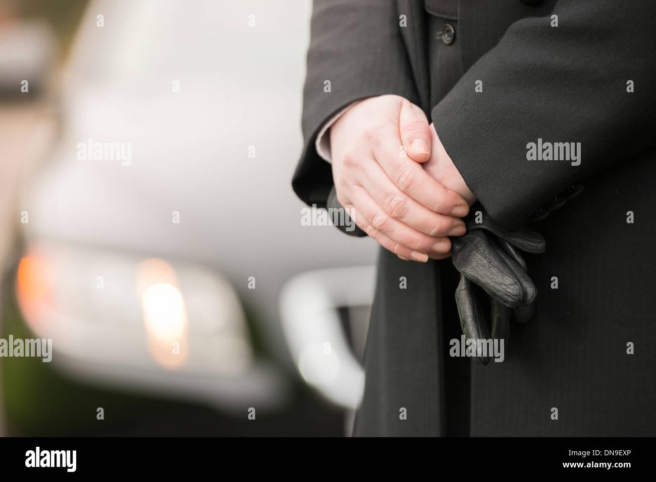 Funeral Director undertaker - Stock Image