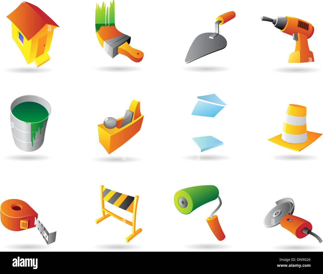 Icons for construction industry - Stock Vector