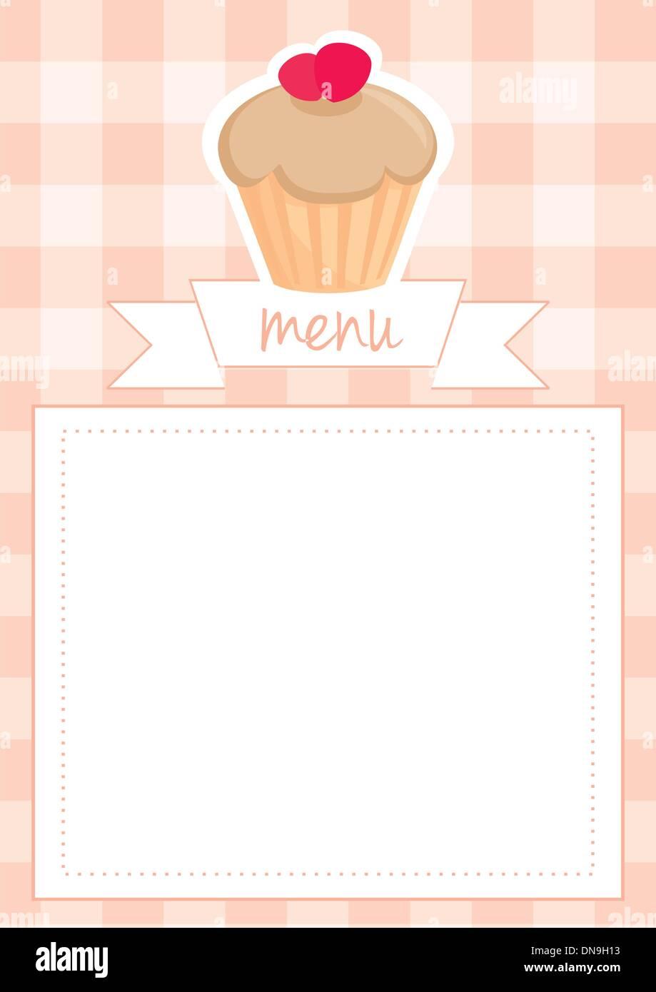 Vector restaurant menu wedding card list or baby shower invitation ...