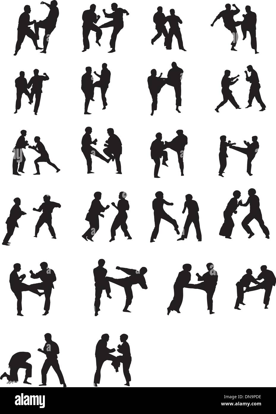 Martial Art Fighters - Stock Image