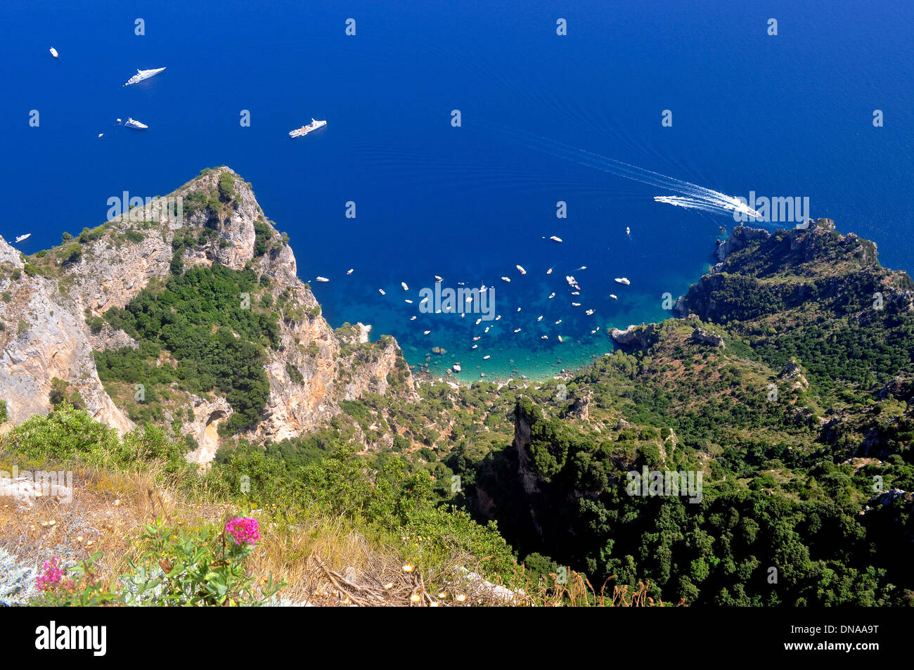 A view from the top of Capri - Stock Image
