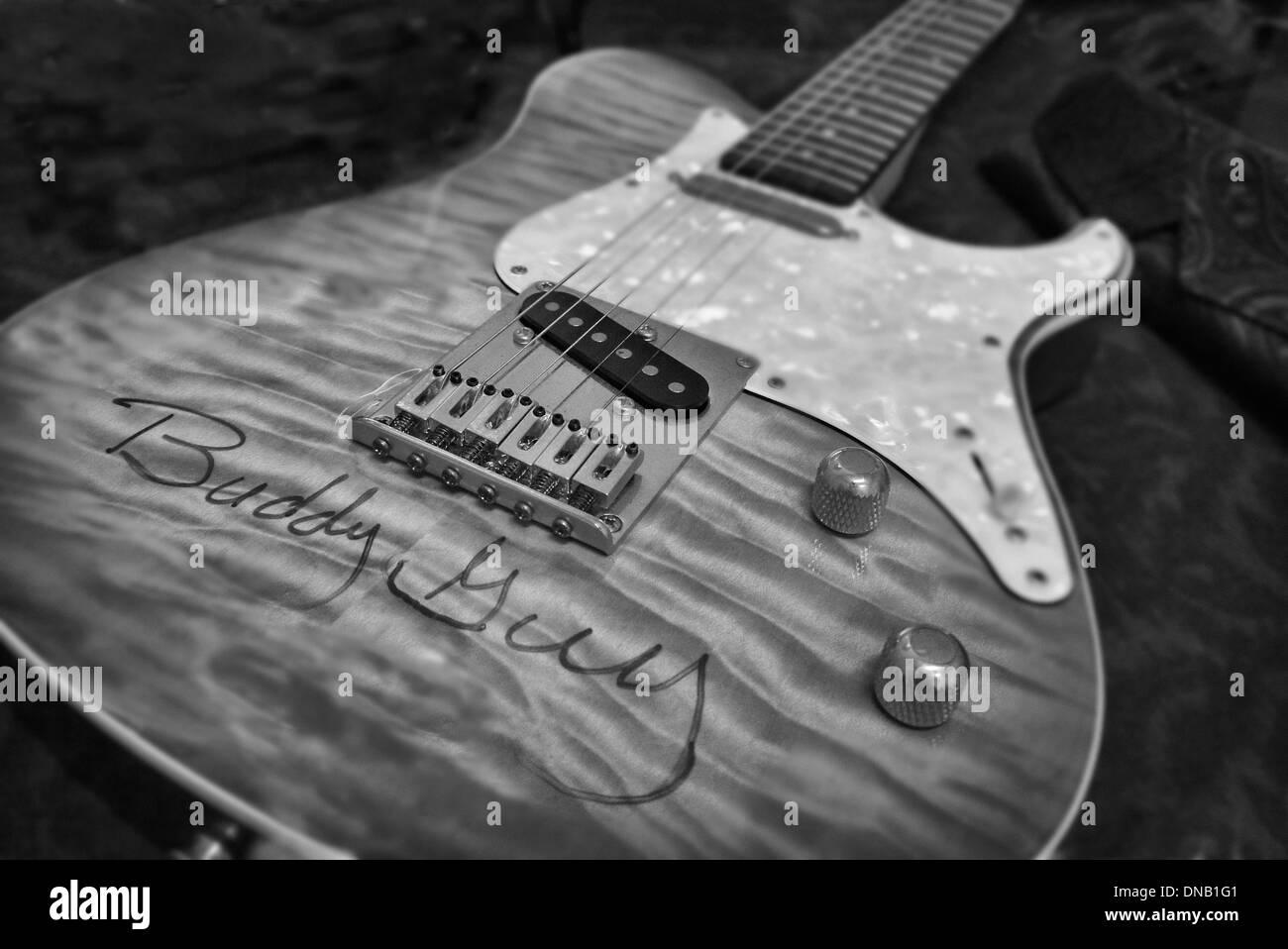 Buddy Guy's Guitar - Stock Image