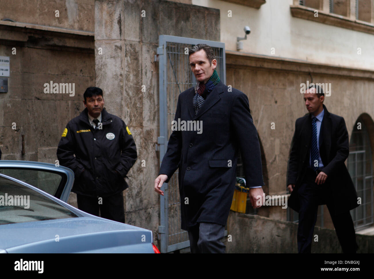 The son in law of Spain´s king Juan Carlos, Inaki Urdangarin (Iñaki) arrives to Majorca´s court accused of corruption. - Stock Image