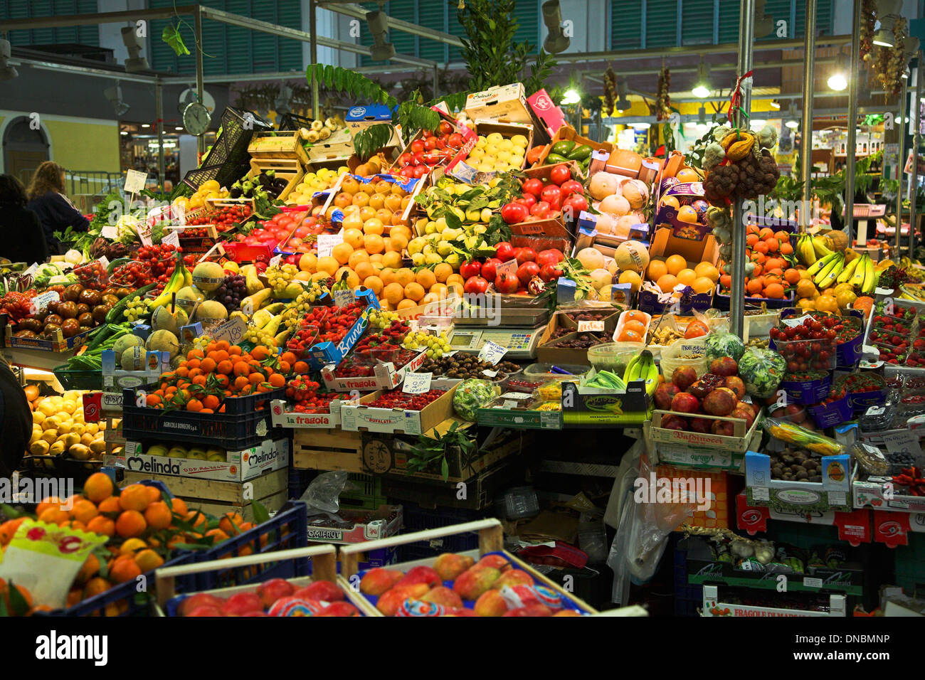 Mercato Centrale Florence - Stock Image
