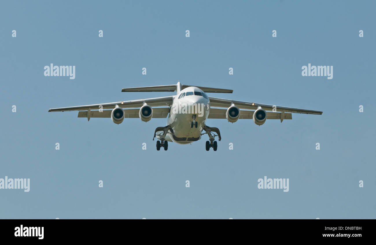 QinetiQ Avro RJ 2 at Deptford Down - Stock Image