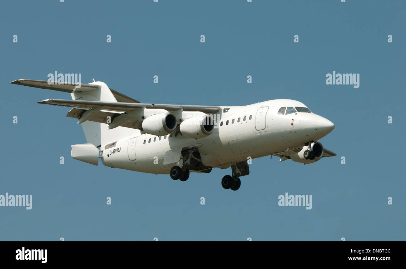 QinetiQ Avro RJ 2 at Deptford Down, Wiltshire - Stock Image