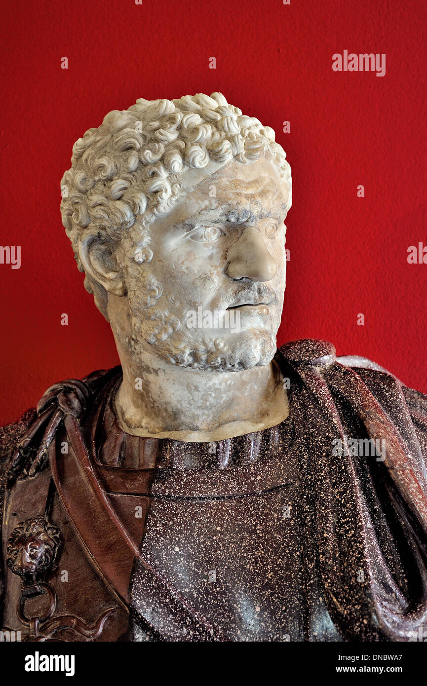 Marble sculpture of Caracalla, Capitoline Museums, Rome, Italy. - Stock Image