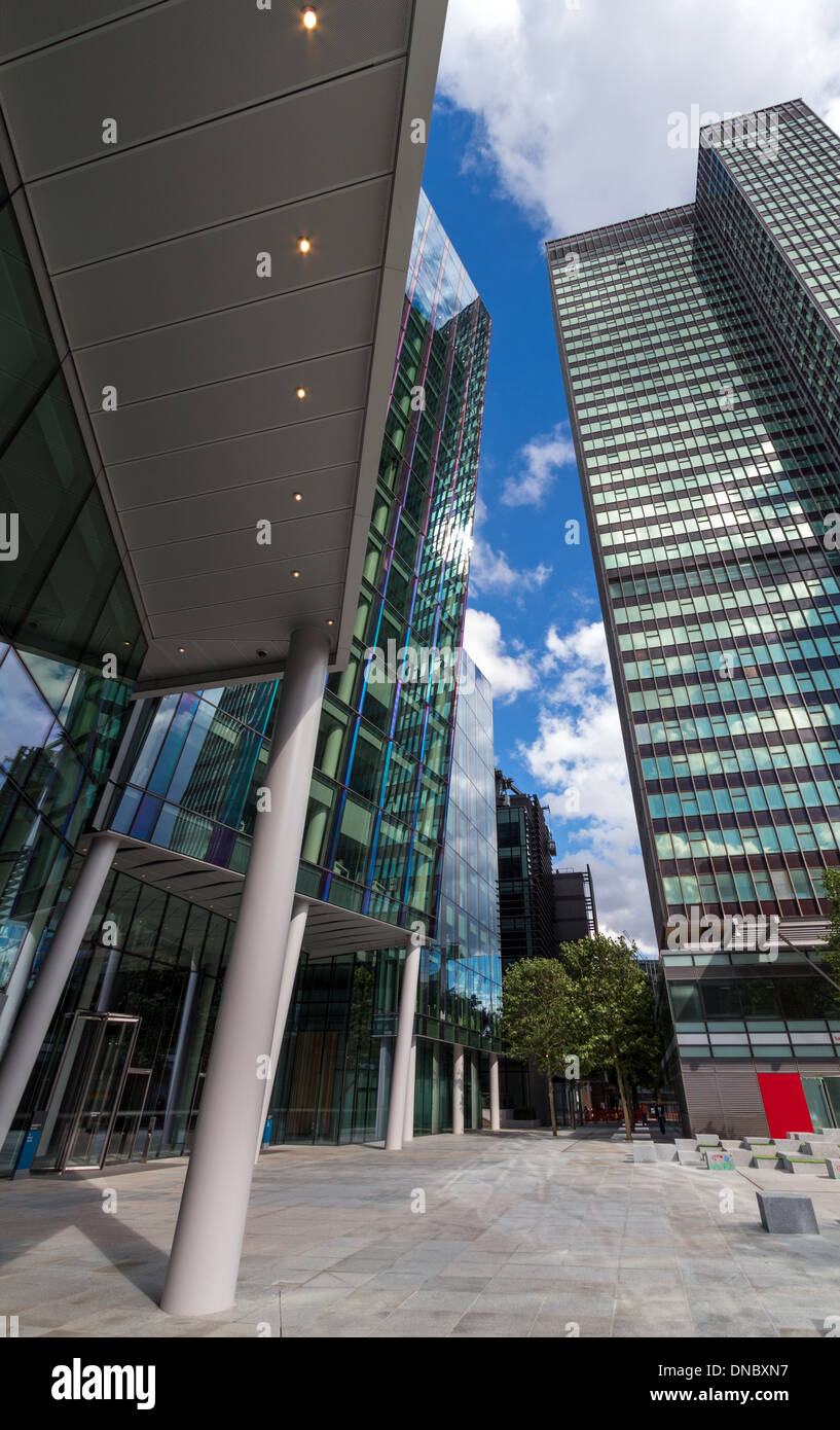 Euston Tower in Central London looking Upwards - Stock Image