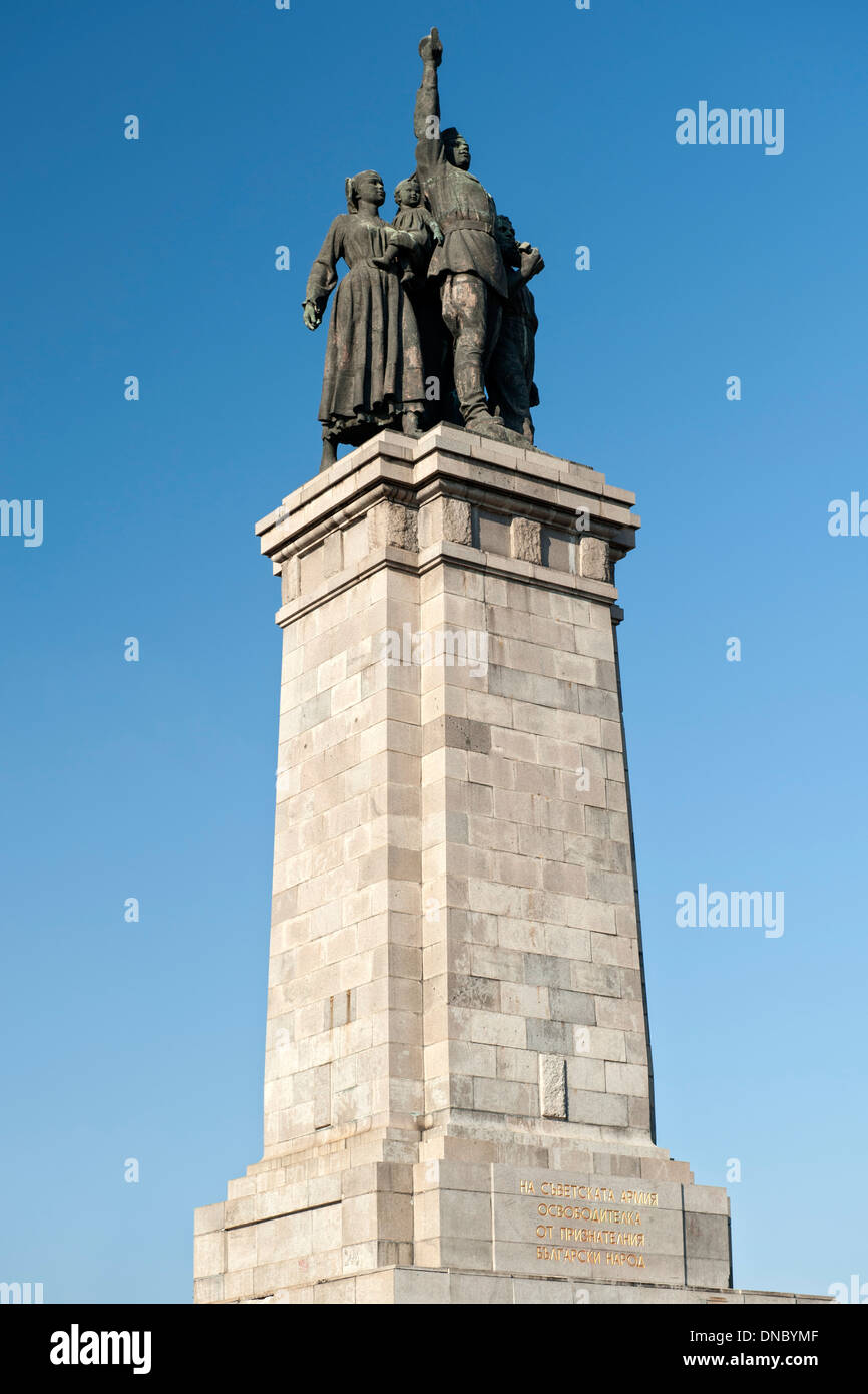 Monument to the Soviet Army in the central park in Sofia, the capital of Bulgaria. - Stock Image