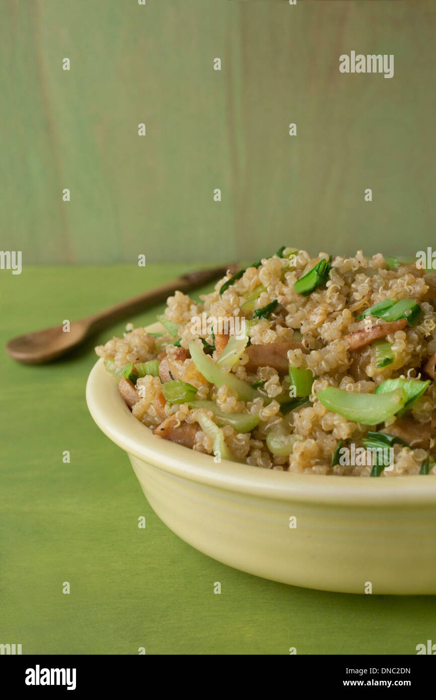 Quinoa salad with bok choy - Stock Image