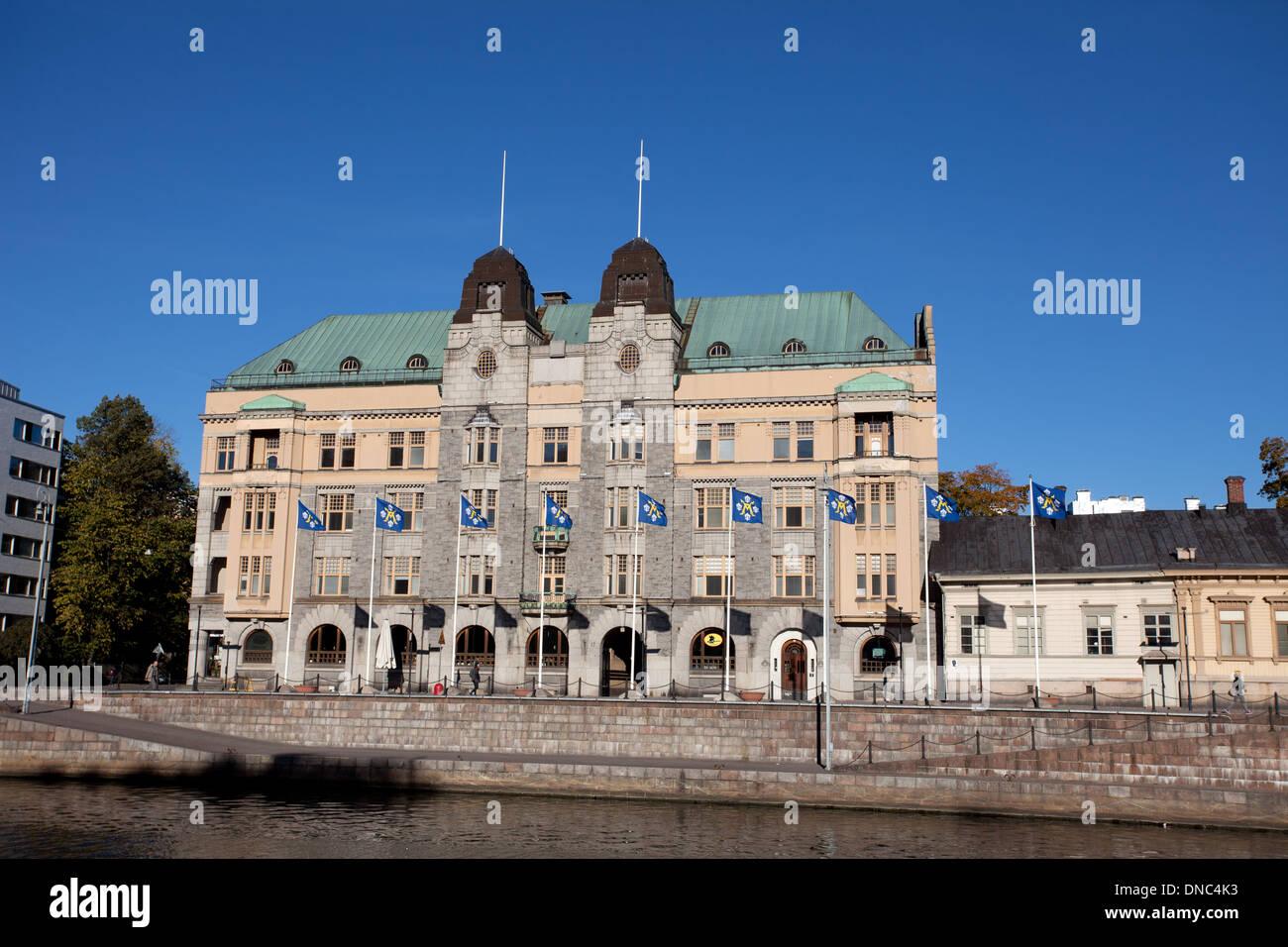 Turku: Aura River View - Stock Image