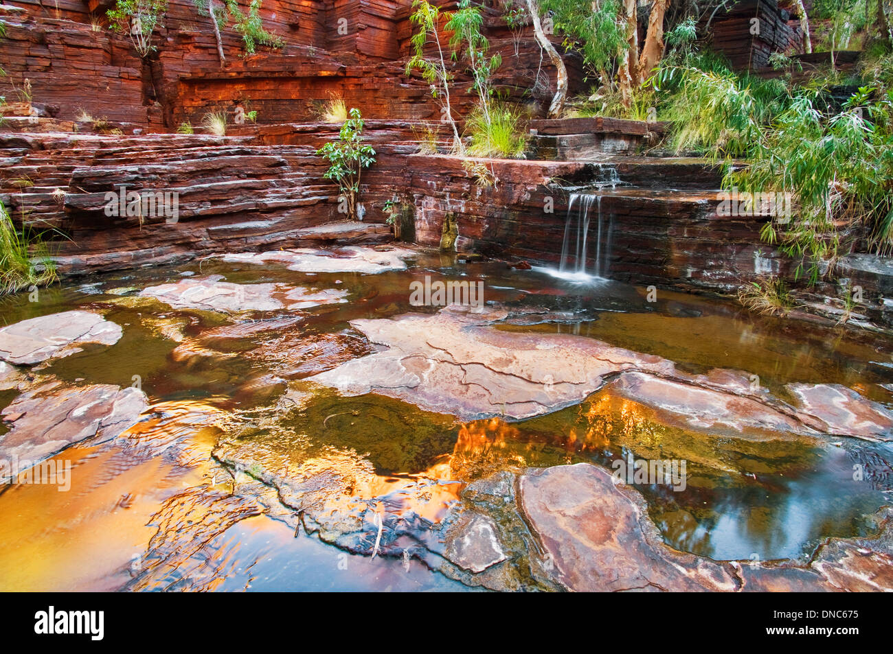 Small waterfall in Dales Gorge. - Stock Image