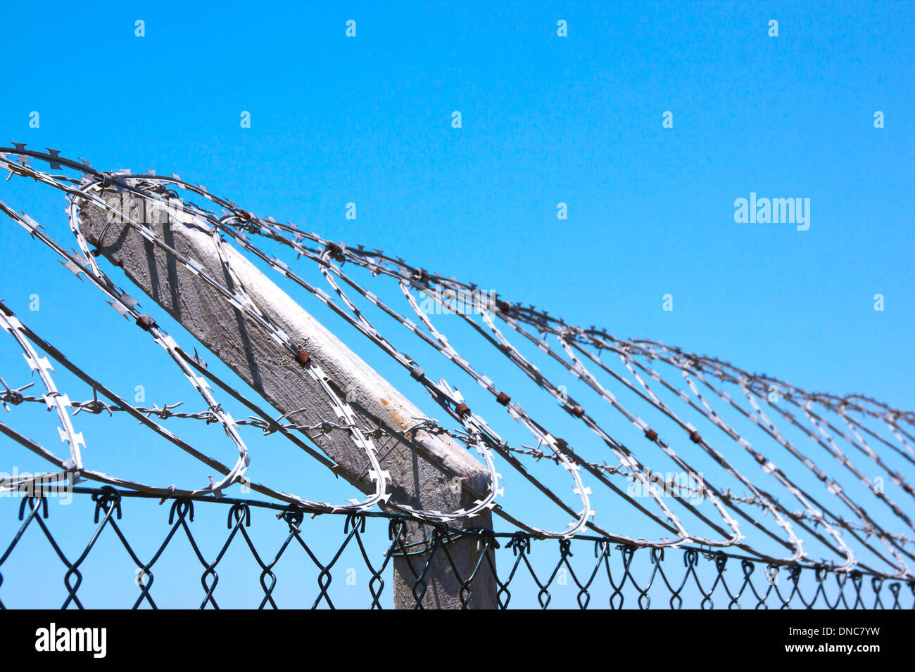 Barbed Wire Fence Skyline Stock Photos & Barbed Wire Fence Skyline ...