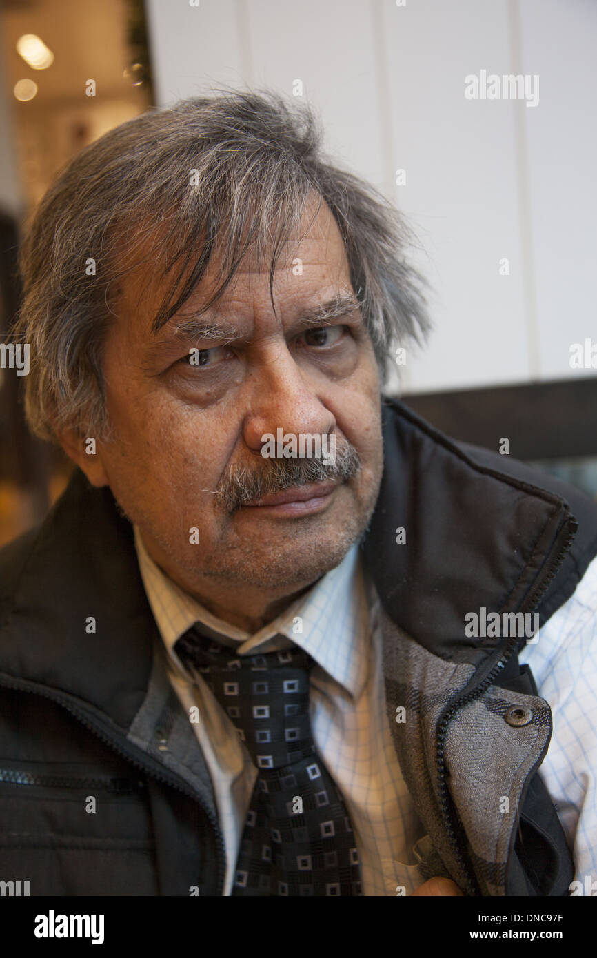 Aging man, New York City. - Stock Image