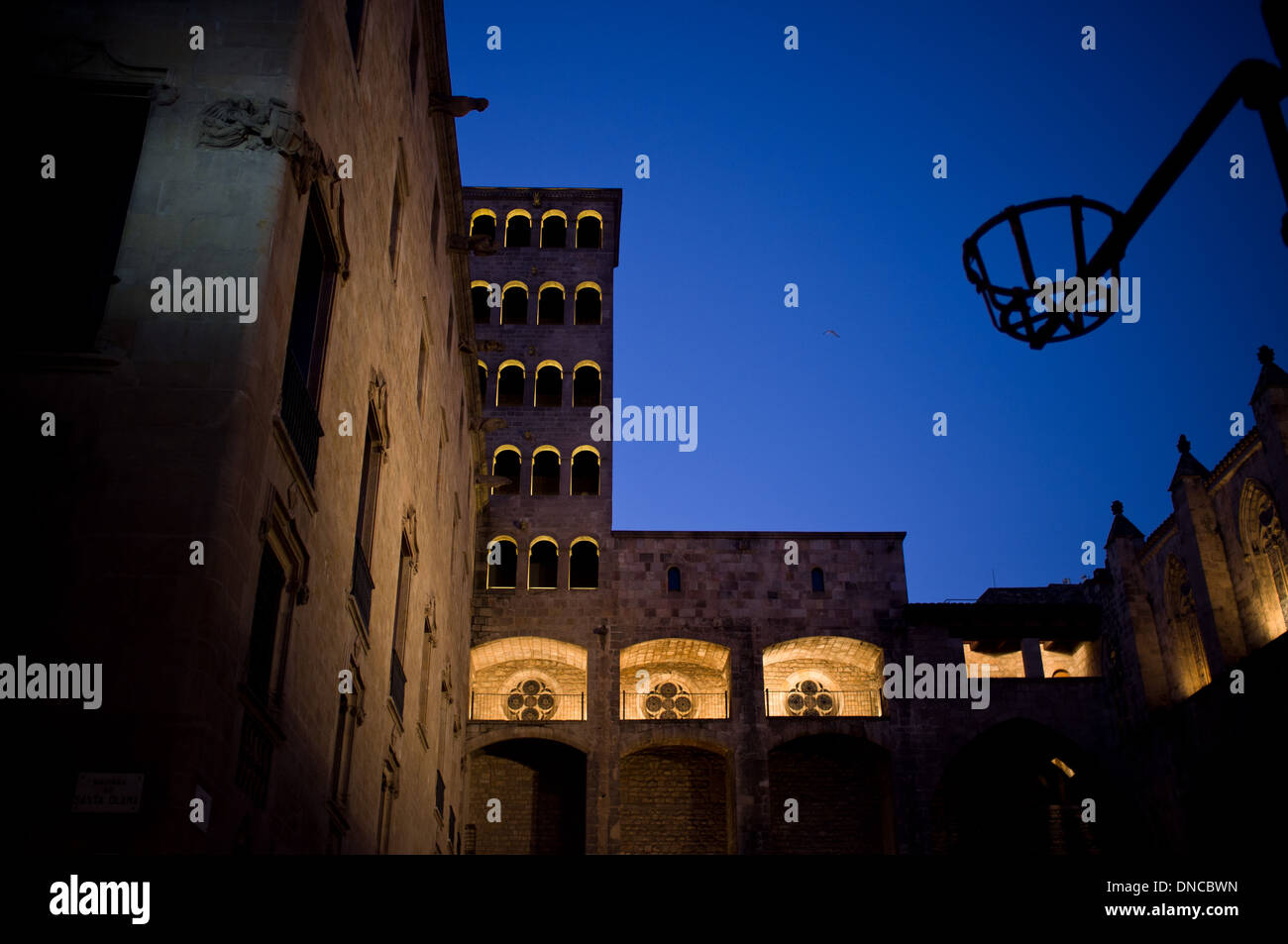 Plaça del Rei in the Gothic Quarter of Barcelona, Spain. - Stock Image