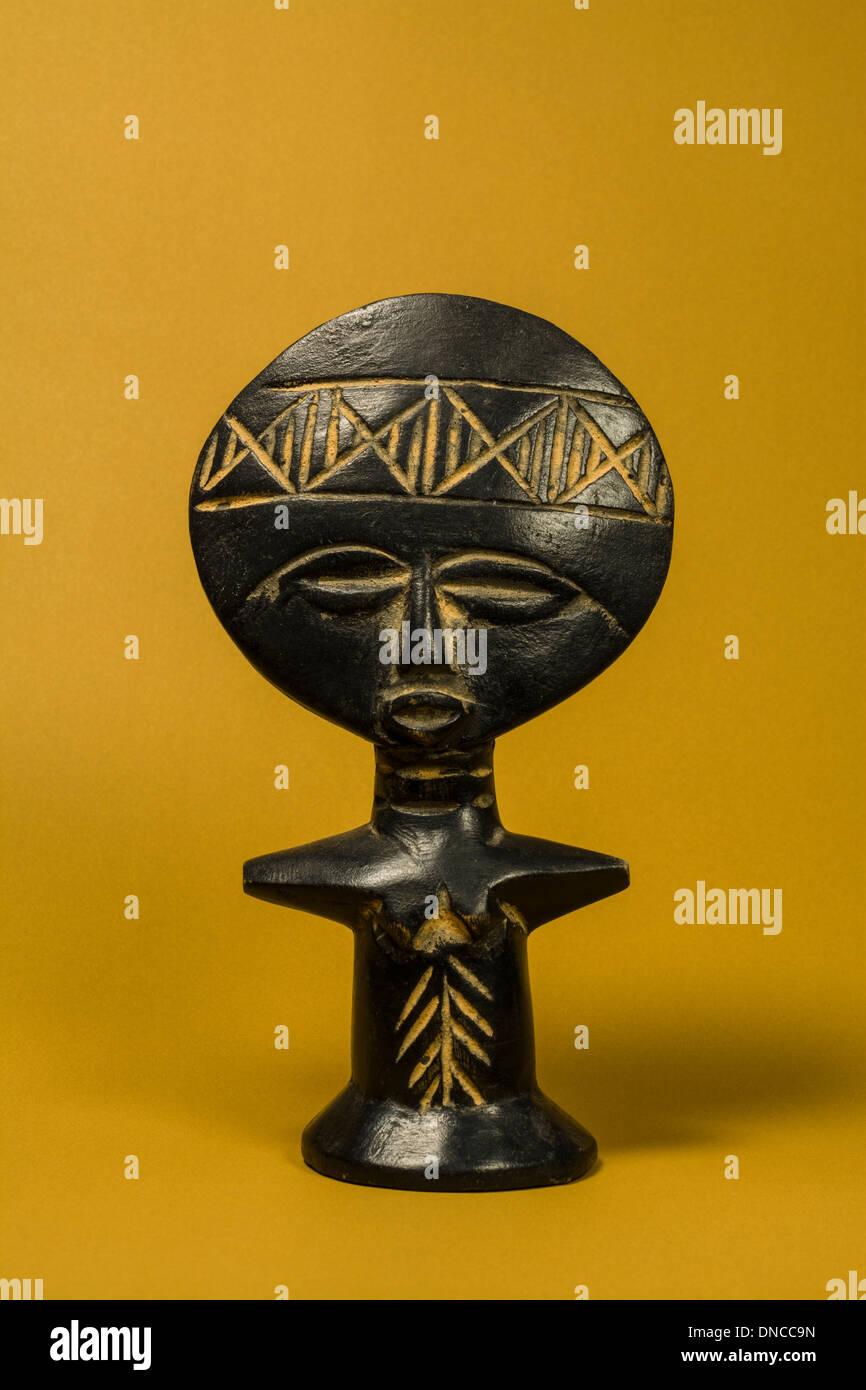 African Fertility Statuette - Stock Image