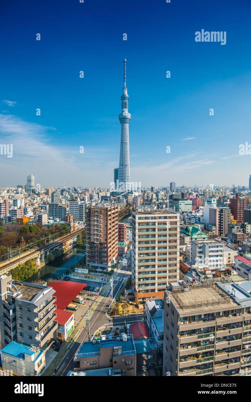 Tokyo, Japan skyline with Tokyo Skytree. - Stock Image