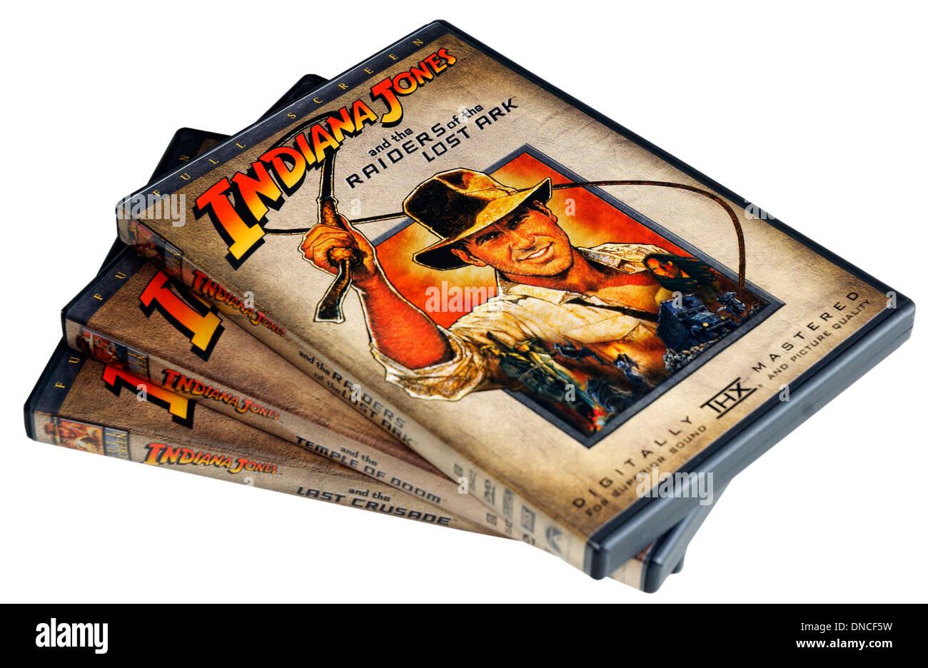 indiana Jones films on DVD - Stock Image