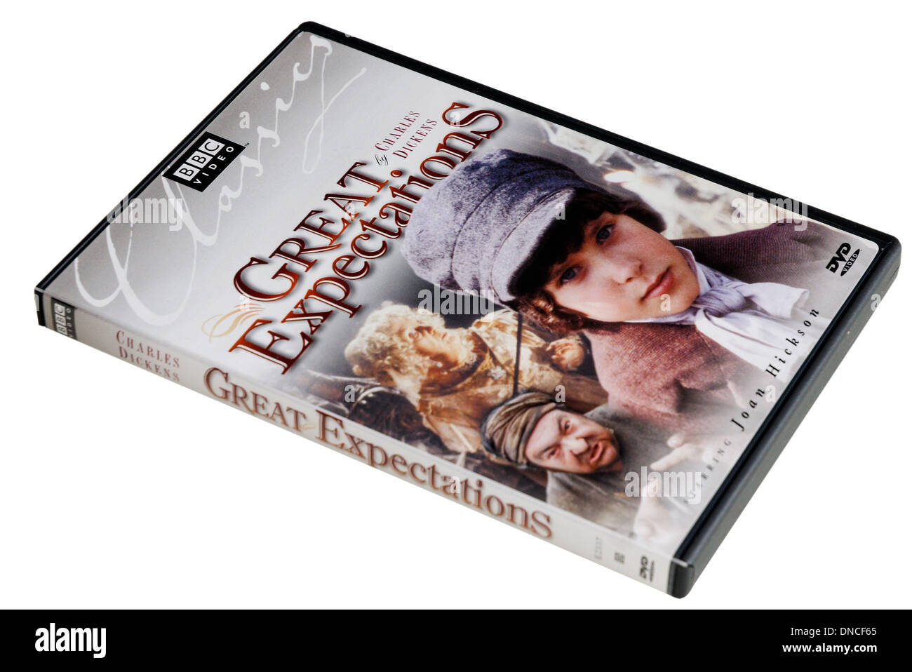 BBC Charles Dickens DVD of Great Expectations - Stock Image