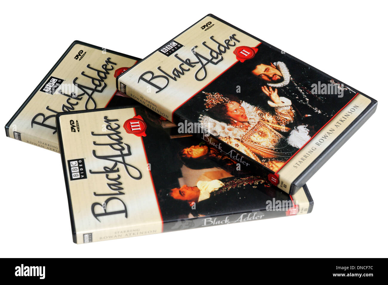 Blackadder BBC TV Comedy classics DVD - Stock Image