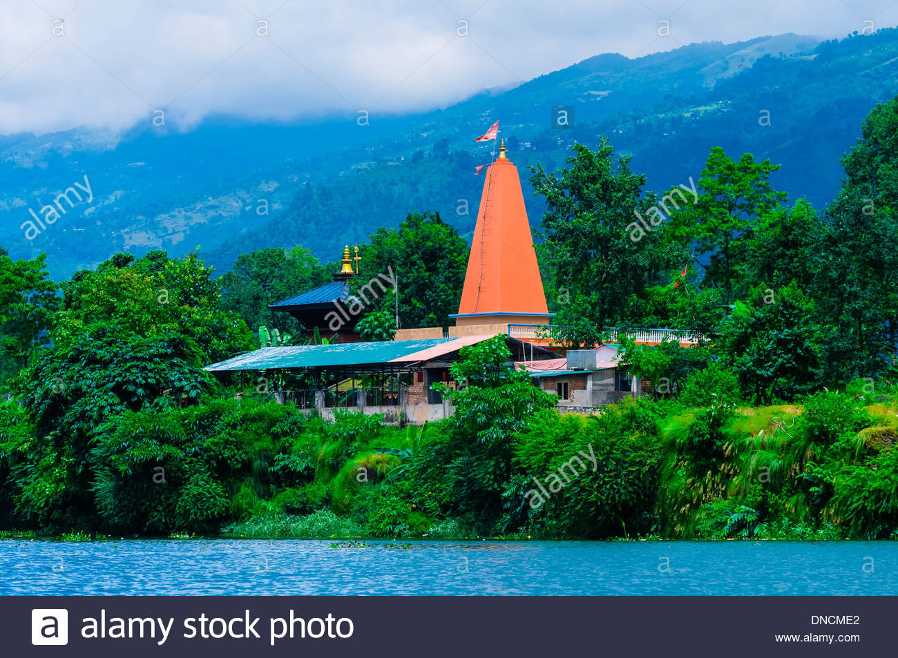 Along Phewa Lake, Pokhara, Nepal. - Stock Image