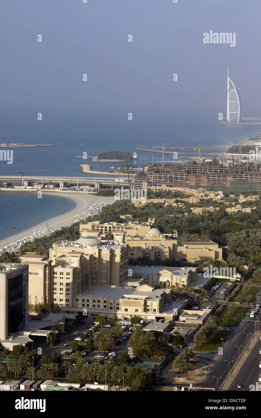 Dubai (United Arab Emirates), 2011: the Burg Al Arab Hotel - Stock Image